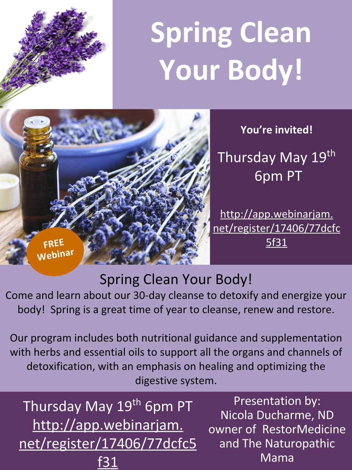 Webinar: Spring Clean Your Body!! - The Naturopathic Mama